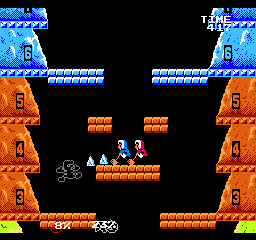 Iceclimber vs. Mr. Game and Watch, Infinite Glacier:  Icicle Mountain